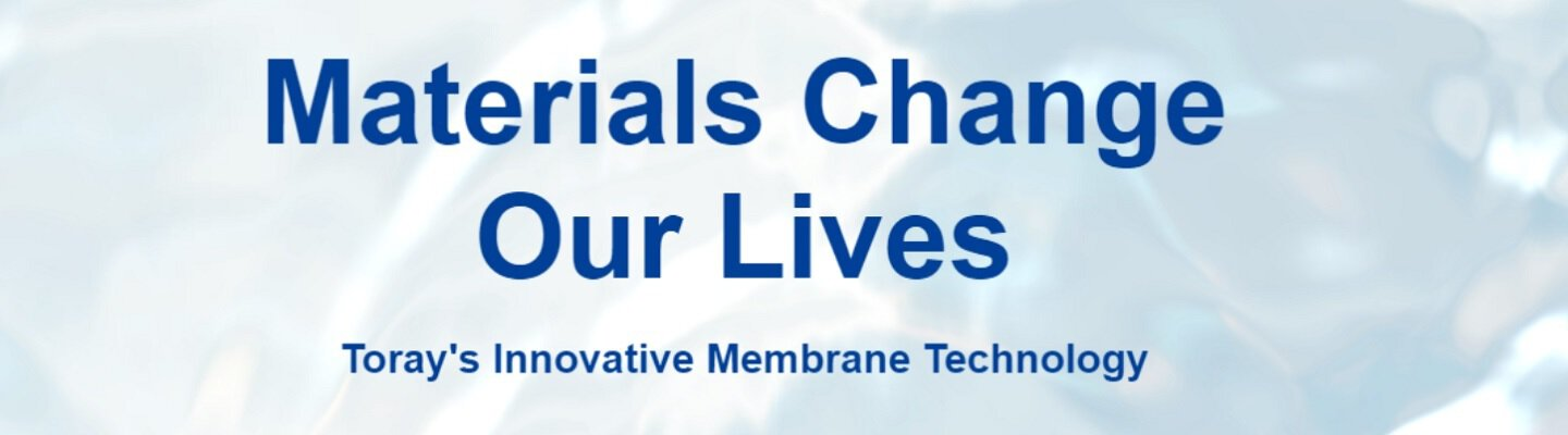 Company banner of Toray Membrane Europe AG