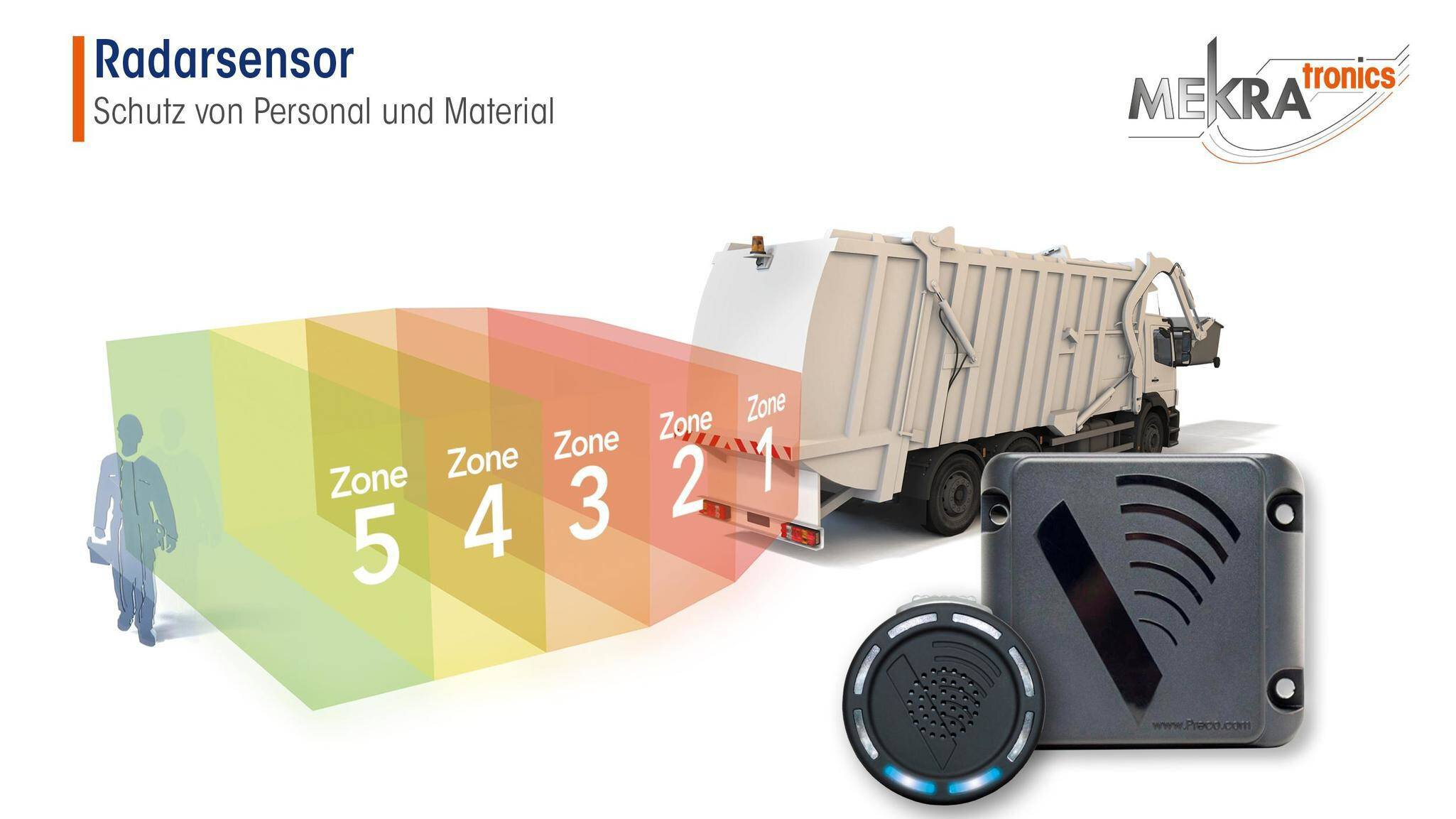 Gallery image 0 - Use the proven radar sensor for the rear to protect people and matrial.