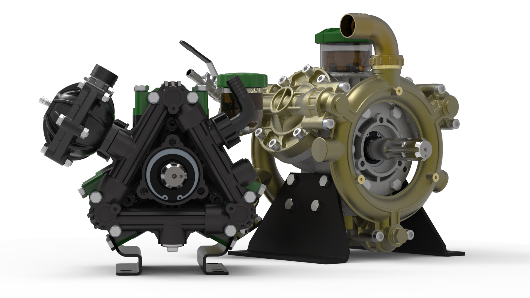 Gallery image 0 - Our Diaphragm Pumps are generally driven by tractor PTO, engines, electric and hydraulic motors, they handle flow from 7 to 400 l/min (2 to 106 GPM) and pressure up to 50 bar (725 PSI)