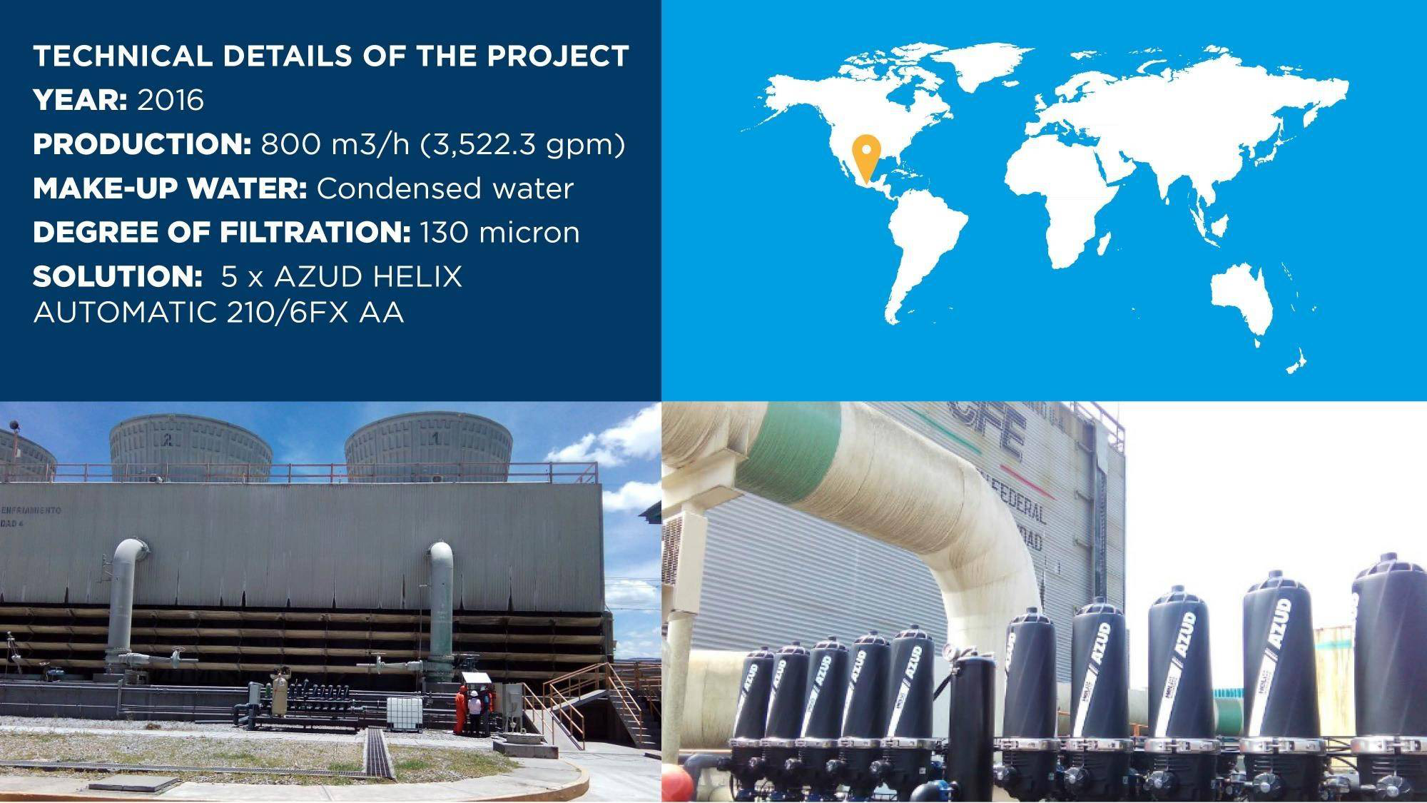 Gallery image 0 - One of the largest electricity companies in Latin America were incurring heat transfer losses due to an accumulation of small particles. Their strong environmental conscience and the accumulated costs made them look for a solution. They trusted in AZUD to solve the situation.