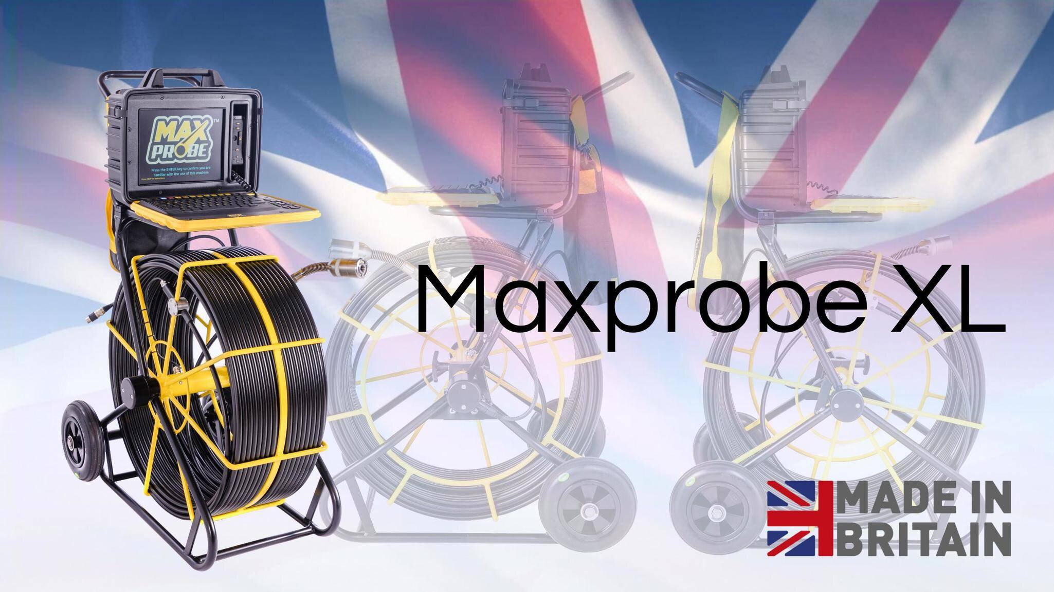 Gallery image 1 - The Maxprobe XL: * 100 metres * Built-in survey reporting software   - create PDF reports on site   - no subscription required * Self-levelling camera * Manufactured in the UK  See more here: https://www.scanprobe.com/product/maxprobe-xl/