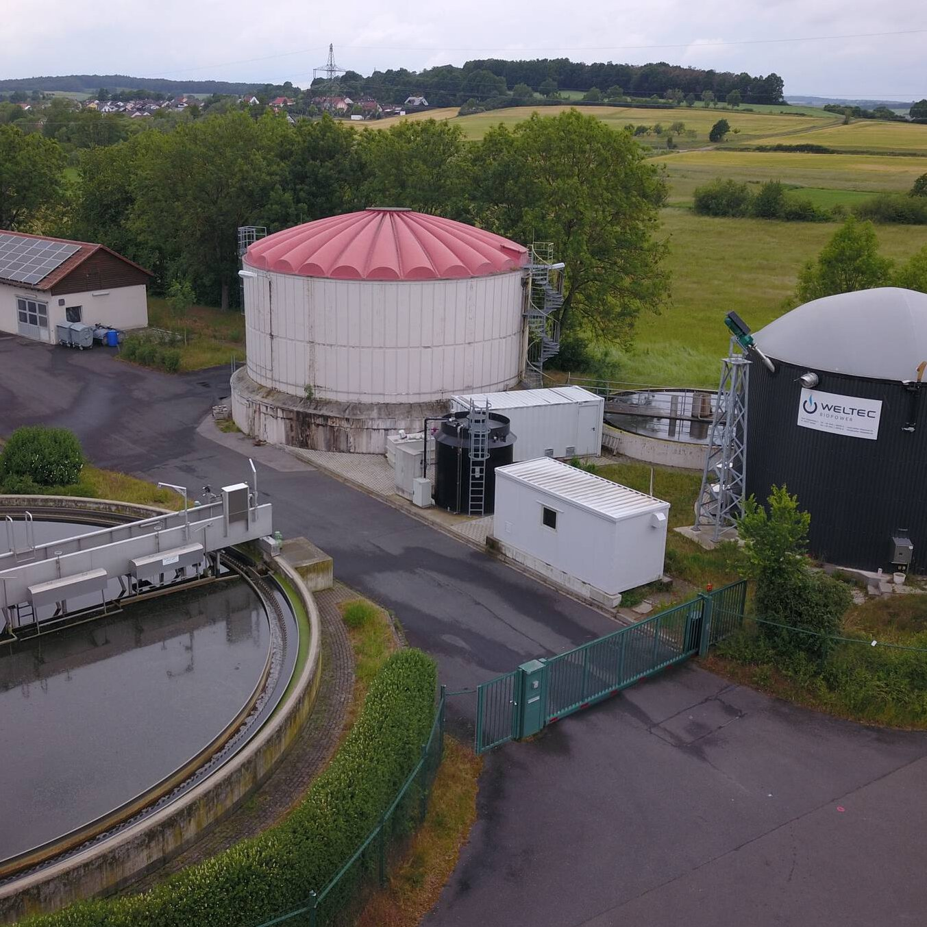 Gallery image 0 - The anaerobic stage from WELTEC is a cost-effective solution for sewage treatment plants up to 50,000 PE in order to reduce the amount of sludge, save energy and at the same time generate energy.