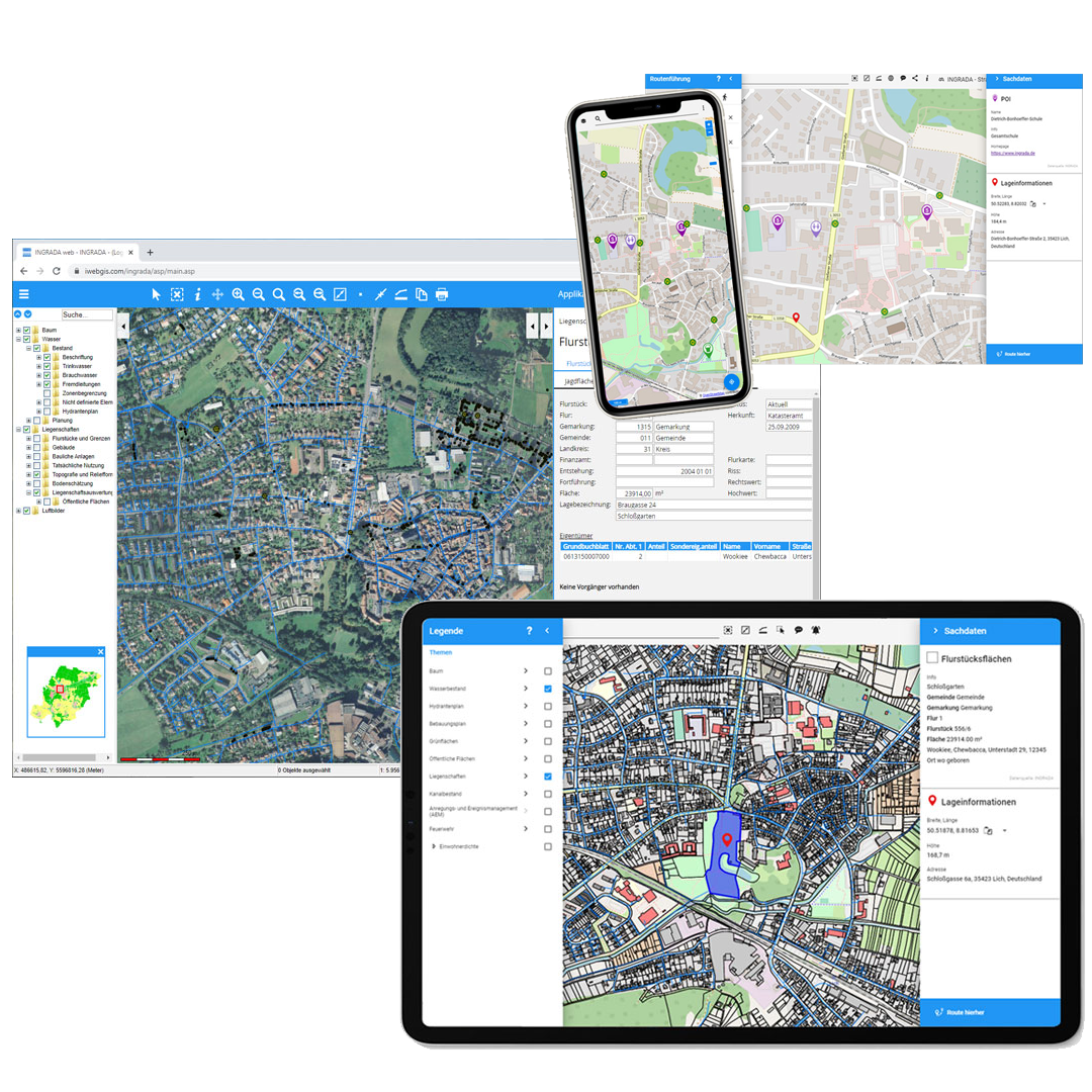Gallery image 0 - Geographic information system for counties, municipalities, engineering offices and companies.