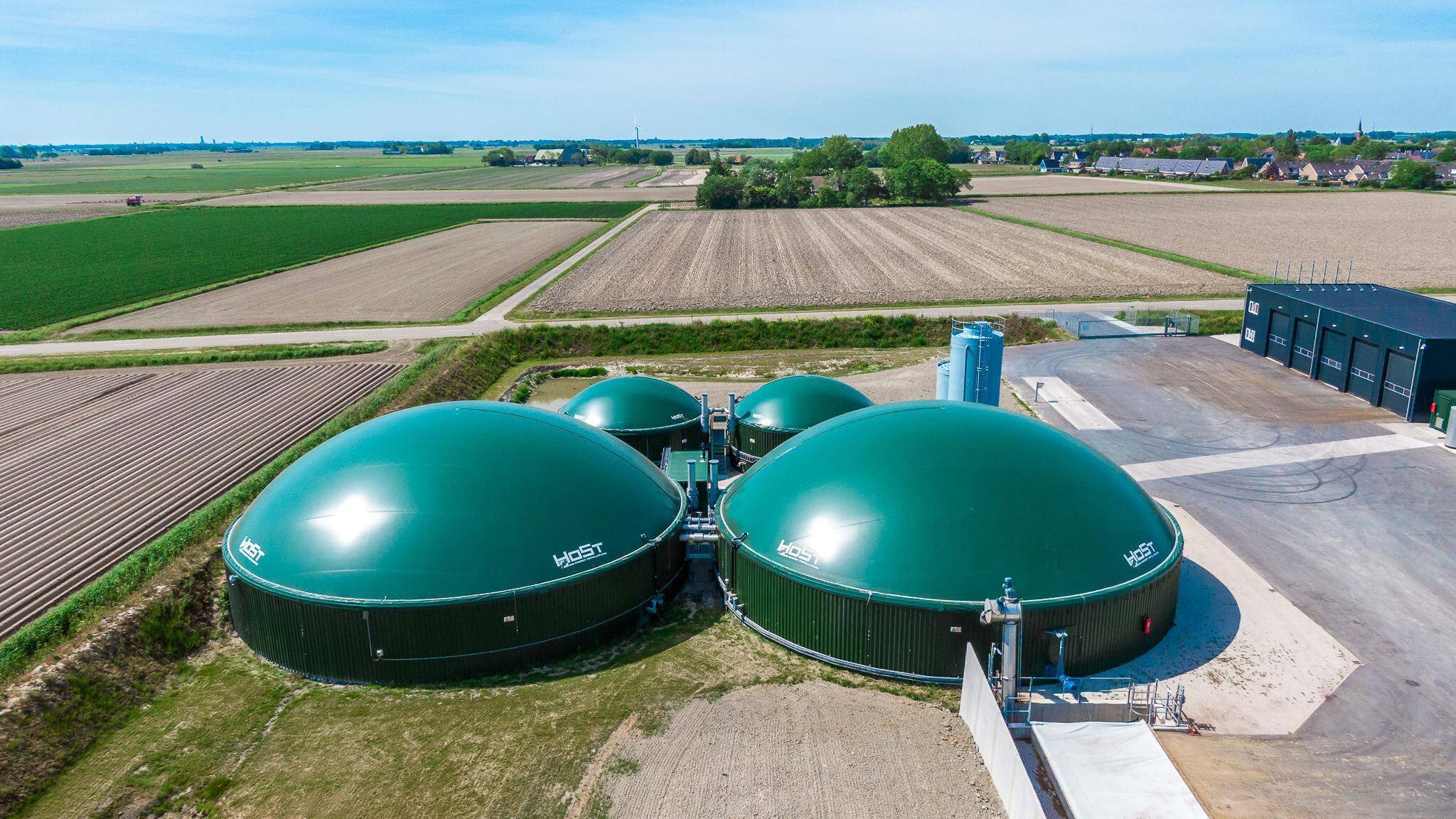 Gallery image 1 - HoSt is a major supplier of agricultural biogas plants, suitable for any agricultural residual flow. HoSt has supplied a large number of agricultural biogas plants for the anaerobic digestion of manure and agricultural products in combination with food waste worldwide.