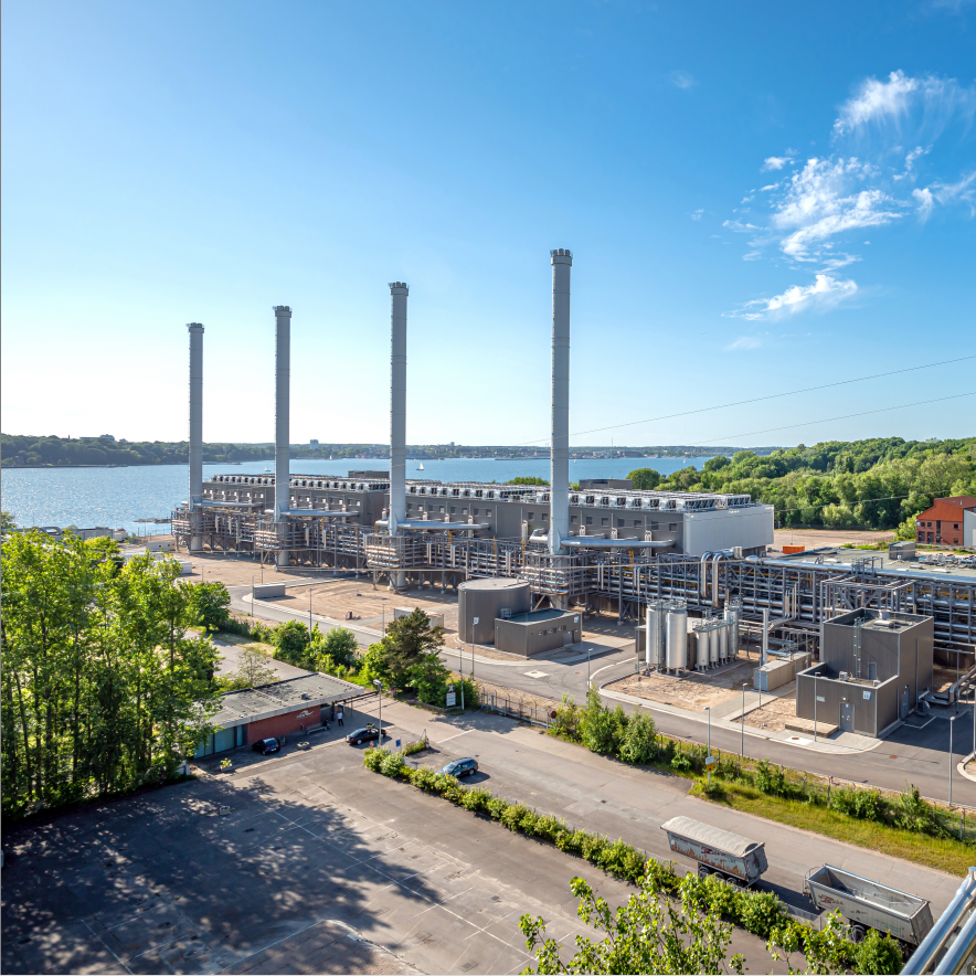 Gallery image 0 - Construction of a state-of-the-art gas-fired power plant in Kiel (Germany).