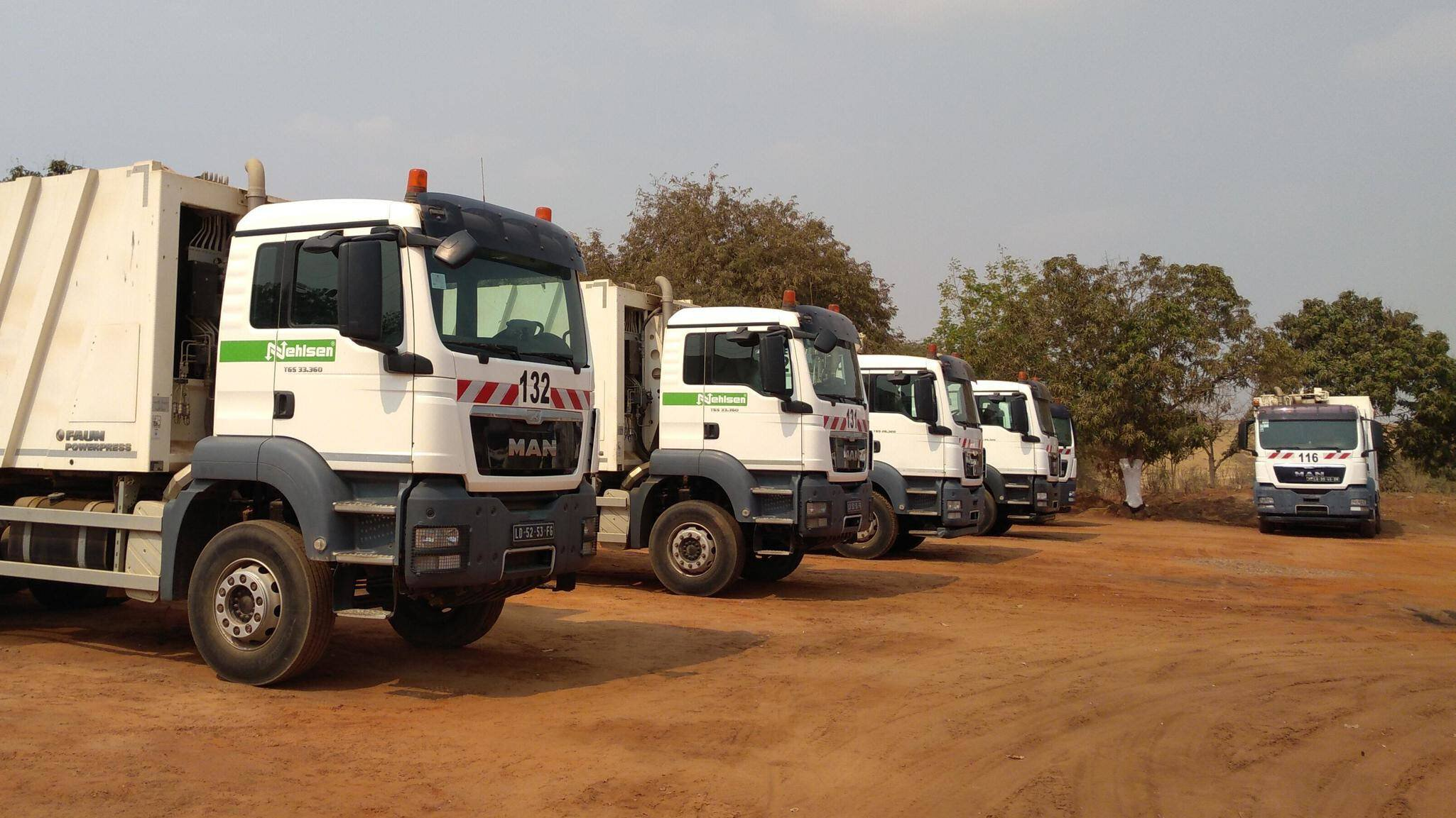Gallery image 0 - The proud vehicle fleet our Nehlsen Ambiente Angola, our angolan daughter company