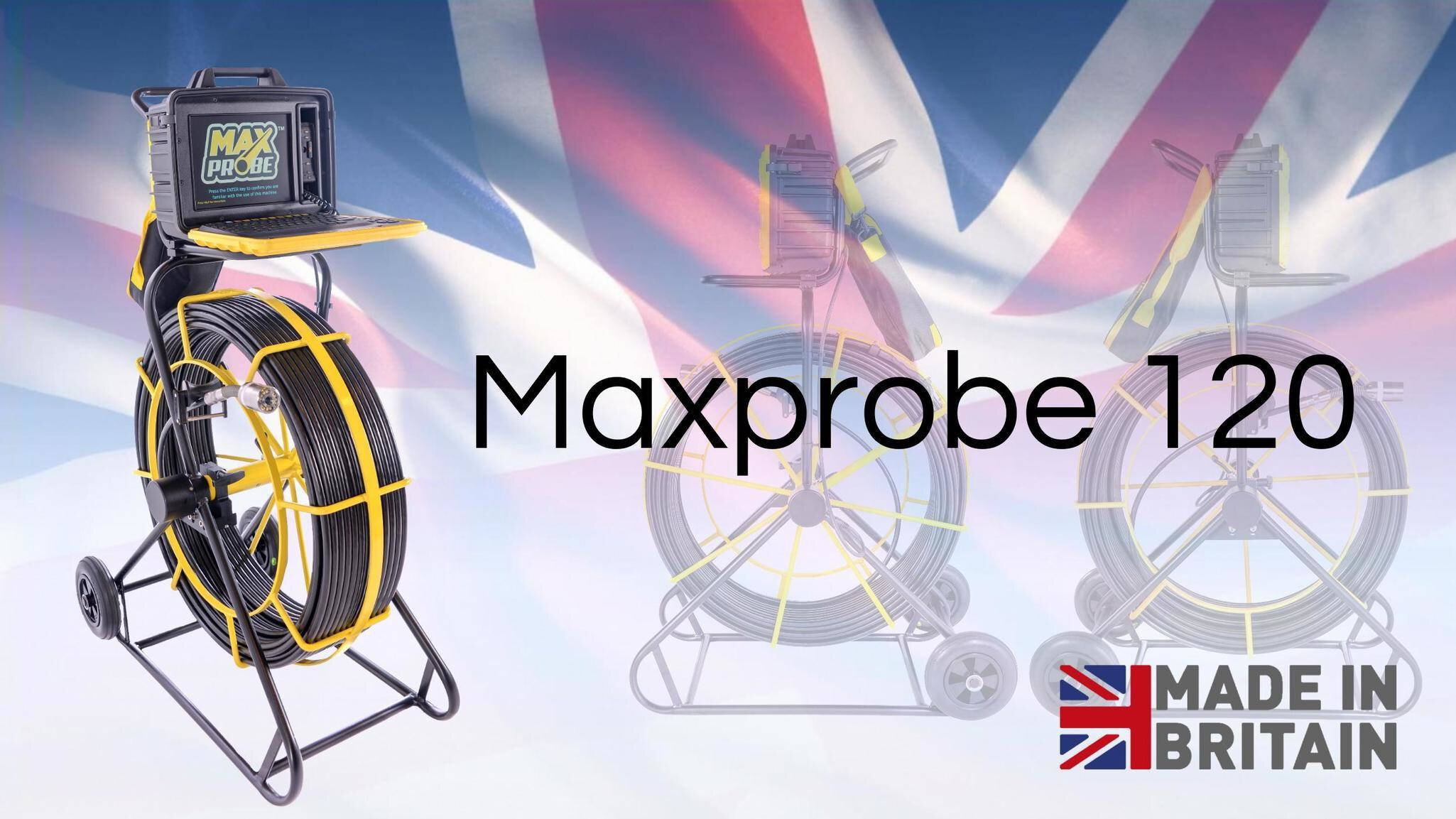 Gallery image 3 - The Maxprobe 120: * 120 metres * Built-in survey reporting software   - create PDF reports on site   - no subscription required * Self-levelling camera * Manufactured in the UK  See more here: https://www.scanprobe.com/product/maxprobe-120/