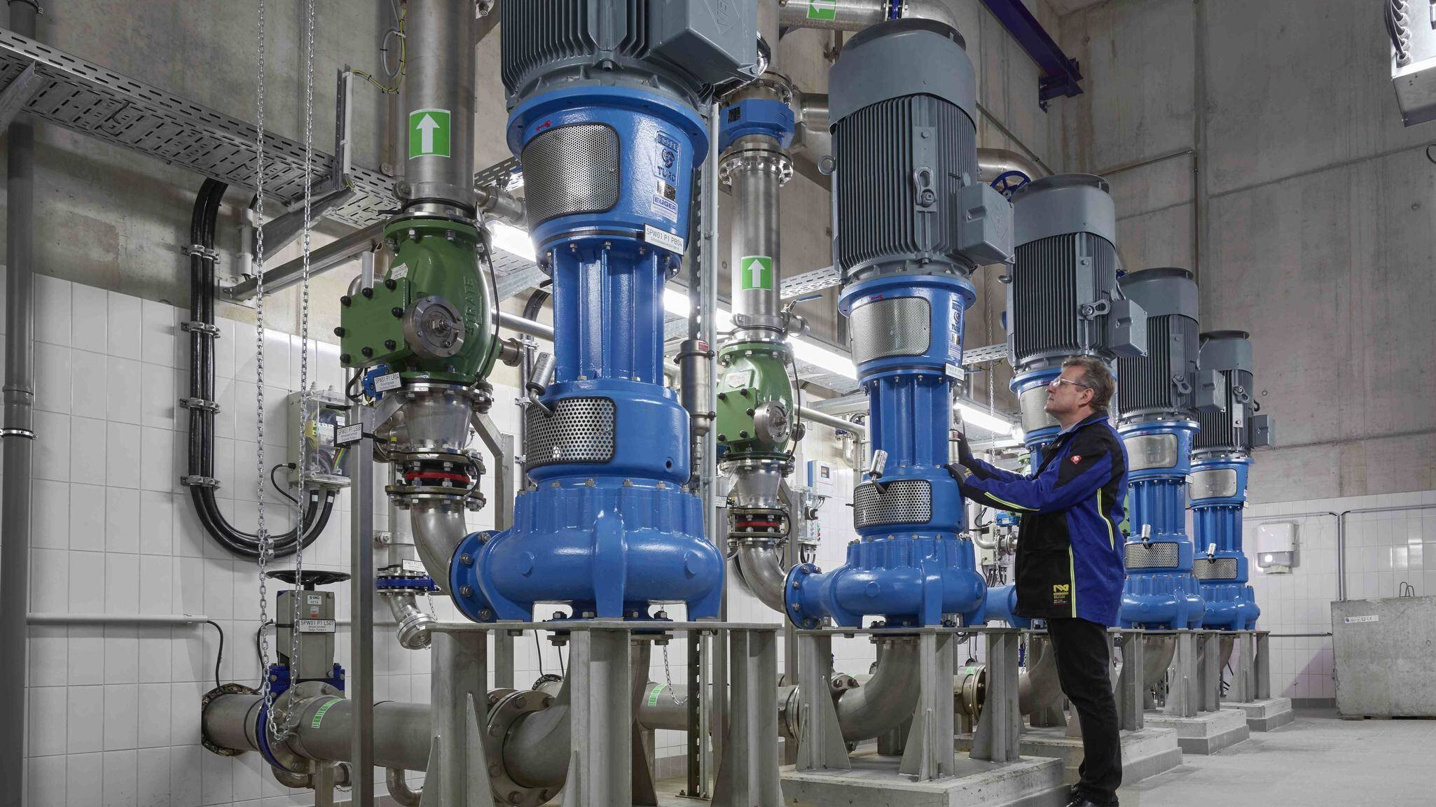 Gallery image 1 - Fraport pumping station (Airport Frankfurt) with Egger raw sewage Turo TA impeller in vertical design. For challenging wastewater with rags.