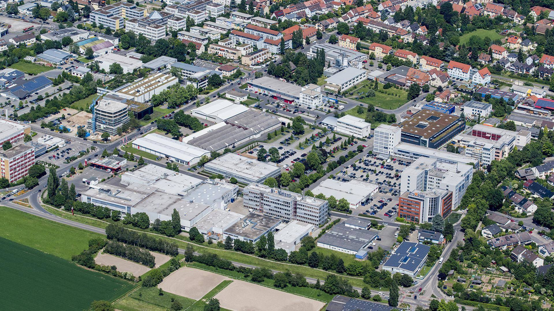 Gallery image 1 - Aerial view of the company premises in Heidelberg.